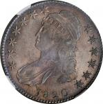 1820 Capped Bust Half Dollar. O-103. Rarity-1. Curl Base 2, Small Date. MS-62+ (NGC).