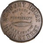 NEW ZEALAND. Christchurch. T.W. Gourlay & Co. Penny Token, ND (ca. 1860s). NGC AU-55 BN.