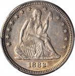 1882 Liberty Seated Quarter. Briggs 1-A. AU Details--Cleaned (PCGS).