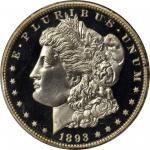 1893 Morgan Silver Dollar. Proof-67 Cameo (PCGS). CAC.