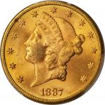 1887-S Liberty Head Double Eagle. MS-63 (PCGS).