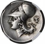 CORINTHIA. Corinth. AR Stater (8.54 gms), ca. 375-300 B.C.