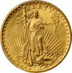 1908 Saint-Gaudens Double Eagle. Motto. MS-65+ (PCGS).