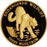 1996年不丹5盎司50000精制金币 NGC PF 68 BHUTAN. 5 Ounce Gold 50000 Ngultrum