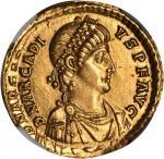 ARCADIUS, A.D. 383-408. AV Solidus (4.46 gms), Sirmium Mint, ca. A.D. 393-395. NGC AU, Strike: 4/5 S