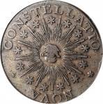 1783 Nova Constellatio Copper. Crosby 2-B, W-1865. Rarity-2. CONSTELLATIO, Pointed Rays, Small U.S.