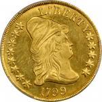 1799 Capped Bust Right Eagle. BD-10, Taraszka-22. Rarity-3. Large Obverse Stars. MS-62 (PCGS).