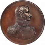 1812 Captain Stephen Decatur, Jr. / USS United States vs. HMS Macedonian. Bronzed Copper. 65 mm. Ori