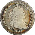1797 Draped Bust Half Dollar. Small Eagle. O-101a, T-1. Rarity-4+. Good-4 (PCGS).