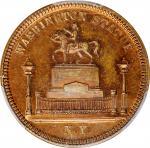 1799 (ca. 1863) New York Statue / Liberty Cap Mule. Copper. 29 mm. Musante GW-526, Baker-150A. MS-64