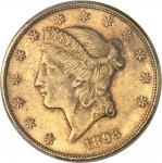 USA République fédérale des États-Unis d'Amérique (1776-à nos jours). 20 dollars Liberty 1893, CC, C