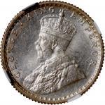 1936-C印度1/4卢比银币,NGC MS64