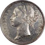 India, British, a pair of silver 1 rupee, 1840(C or B) and 1891-B, Victoria on obverse, PCGS AU Deta