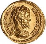 SEPTIMIUS SEVERUS, A.D. 193-211. AV Aureus (7.33 gms), Rome Mint, ca. A.D. 202. EXTREMELY FINE.