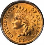 1884 Indian Cent. MS-65 RD (PCGS). CAC.