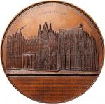 BELGIUM. Cologne Cathedral Second Cornerstone Bronze Medal, 1855. UNCIRCULATED.