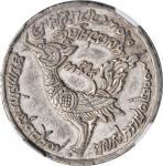 CAMBODIA. Tical, CS 1209 (1848). Udong Mint. Ang Duang. NGC AU-55.