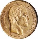 VENEZUELA. 20 Bolivares, 1904. NGC AU-58.