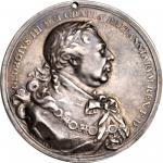 1814 George III Indian Peace Medal. Silver. Smallest Size. Adams 14.2. (Obverse 2, Reverse A). Adams