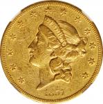 1857-S Liberty Head Double Eagle. EF-45 (NGC).