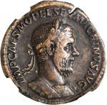 MACRINUS, A.D. 217-218. AE Sestertius (20.50 gms), Rome Mint, A.D. 217. NGC Ch VF, Strike: 5/5 Surfa