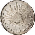 MEXICO. 8 Reales, 1854-Pi MC. San Luis Potosi Mint. NGC MS-61.