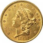 1868 Liberty Head Double Eagle. AU-55 (PCGS).