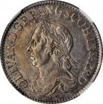 GREAT BRITAIN. Shilling, 1658. London Mint. Oliver Cromwell. NGC AU-53.