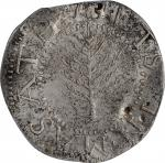 1652 Pine Tree Shilling. Large Planchet. Noe-7, Salmon 6-Diii, W-730. Rarity-6. Without Pellets at T