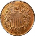 1872 Two-Cent Piece. MS-64 RB (PCGS).