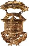 Romanian-American Social and Protective Organization Badge. Gold. 35 x 62 mm. 12.5 grams. 14 karat.