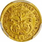 AUSTRIA. Gold Medallic 1/4 Ducat, ND (ca. 1740). Charles VI. PCGS MS-65 Gold Shield.