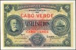 CAPE VERDE. Banco Nacional Ultramarino. 20 Escudos, 1921. P-36s. Specimen. Choice About Uncirculated