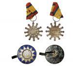 民国抗战徽章一组二枚