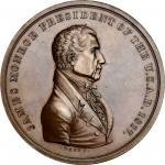 1817 James Monroe Indian Peace Medal. Bronze. Third Size. First Reverse. Julian IP-10, Prucha-41. MS