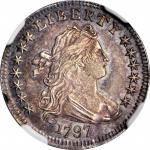1797 Draped Bust Dime. JR-2. Rarity-4. 13 Stars. MS-64 (NGC).