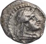 CILICIA. Tarsos. Datames, Satrap of Cilicia, 384-361/0 B.C. AR Obol, ca. 380 B.C. NEARLY EXTREMELY F