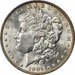 1901 Morgan Silver Dollar. MS-64 (PCGS).