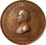 1848 Major General Winfield Scott / Mexican-American War Medal. Bronzed Copper. 90 mm. Julian MI-26.