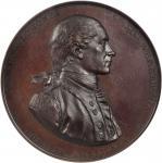 1779 (ca. 1863) Captain John Paul Jones / Bonhomme Richard vs. Serapis. U.S. Mint Copy Dies. Bronzed