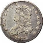 1822 Capped Bust Quarter. B-2. Rarity-5. 25/50 C. VF-20 (PCGS).