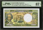 FRENCH PACIFIC TERRITORIES. Institut DEmission DOutre-Mer. 5000 Francs, ND (1996). P-3i. PMG Superb