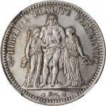 FRANCE. 5 Franc, 1873-A. NGC MS-65.