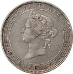 1868年香港维多利亚一圆银币。香港造币厂。HONG KONG. Dollar, 1868. Hong Kong Mint. Victoria. PCGS Genuine--Scratch, EF D