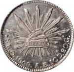 MEXICO. 8 Reales, 1868-O AE. Oaxaca Mint. PCGS Genuine--Corrosion Removed, Unc Details Gold Shield.