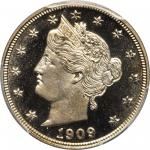 1909 Liberty Nickel. Proof-68 Cameo (PCGS).