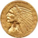 1909-D $5 Indian. PCGS MS63