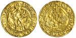 Henry VII (1485-1509), Angel, class V, 5.14g, mm. pheon, henric di?gra?rex agl?z fra? single/double