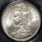 GREAT BRITAIN Victoria ヴィクトリア(1837~1901) Crown 1887 PCGS-MS62 AU~UNC