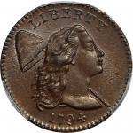 1794 Liberty Cap Cent. S-22. Rarity-1. Head of 1794. MS-64+ BN (PCGS).
